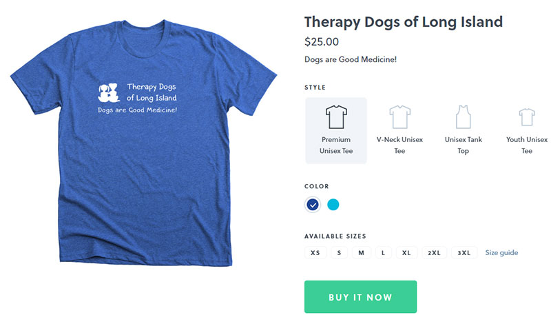 Therapy Dogs of Long Island T-shirt