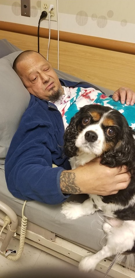 Lily giving some love to the residents at Suffolk Rehabilitation